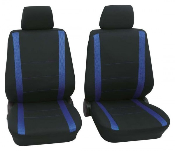 Autositzbezug Schonbezug, Vordersitzbezüge, Mazda nur Vordersitzbezüge, Schwarz, Blau