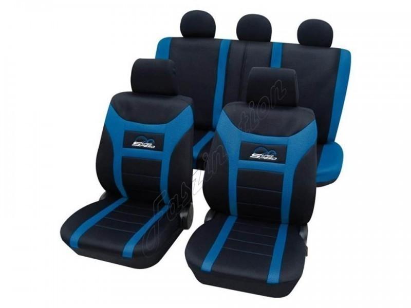 autositzbezug schonbezug komplett set ford ka schwarz blau. Black Bedroom Furniture Sets. Home Design Ideas