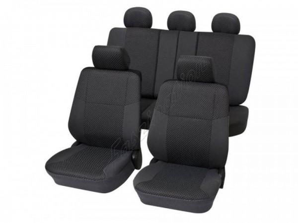 Autositzbezug Schonbezug, Komplett-Set, Peugeot 309, Anthrazit Schwarz