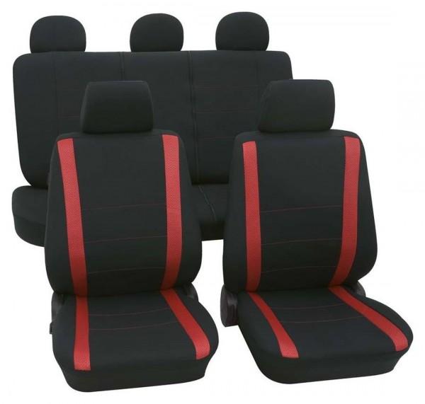 autositzbezug schonbezug komplett set suzuki swift schwarz rot. Black Bedroom Furniture Sets. Home Design Ideas