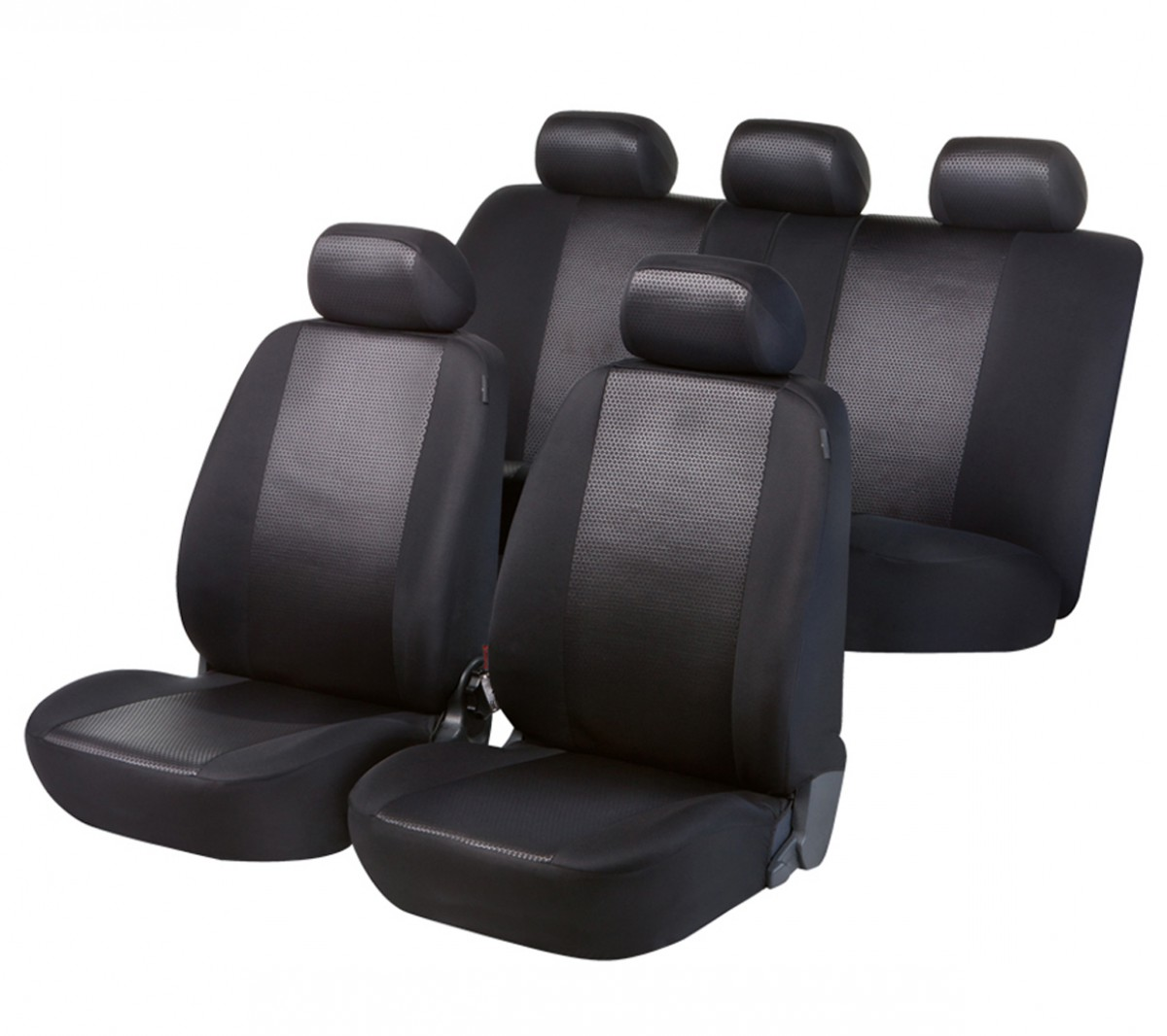 autositzbezug schonbezug komplett set vw caddy schwarz. Black Bedroom Furniture Sets. Home Design Ideas