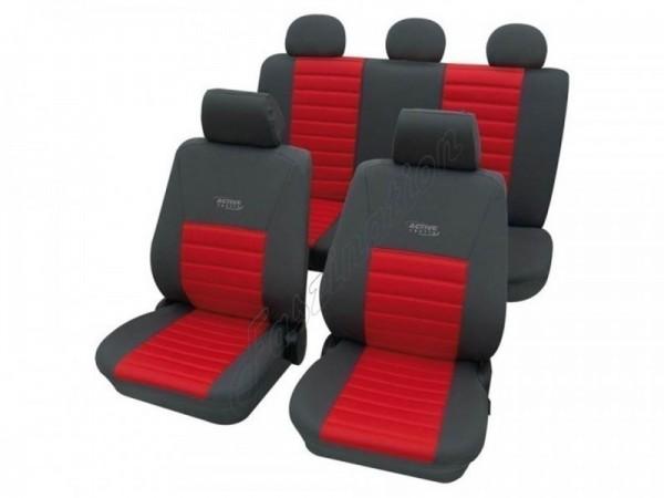 Autositzbezug Schonbezug, Komplett-Set, Alfa Romeo 164, Rot Blau Anthrazit
