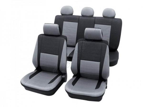 Autositzbezug Schonbezug, Komplett-Set, VW Käfer ,Silber Grau Anthrazit