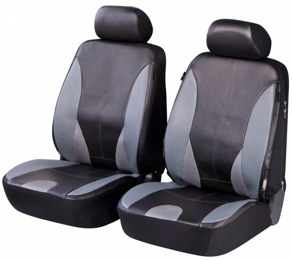 Autositzbezug Schonbezug, Kunstleder, Vordersitzbezüge, Mazda nur Vordersitzbezüge, Schwarz, Grau