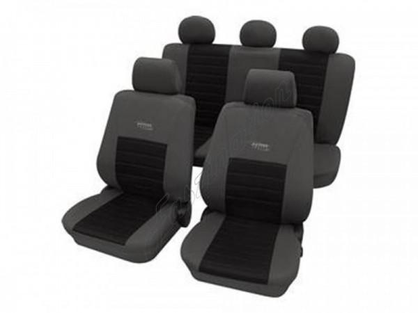 Autositzbezug Schonbezug, Komplett-Set, Peugeot 207, Grau Schwarz Anthrazit