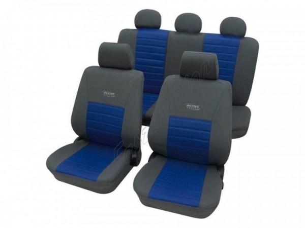 Autositzbezug Schonbezug, Komplett-Set, Alfa Romeo 145, Grau Blau Anthrazit