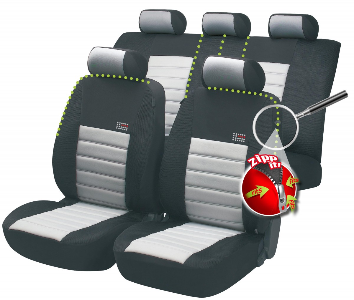 Schwarz-blaue Sitzbezüge für SUBARU IMPREZA Autositzbezug NUR FAHRERSITZ