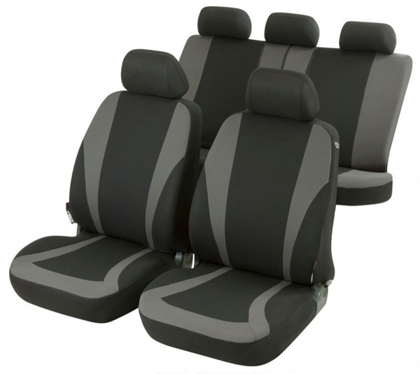 Autositzbezug Schonbezug, Komplett Set, Nissan Vanette, Schwarz, Grau