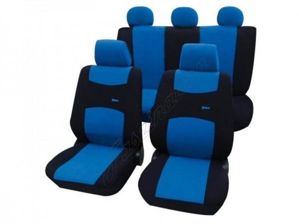 Autositzbezug Schonbezug, Komplett-Set, Audi 80 Avant ,Blau Schwarz