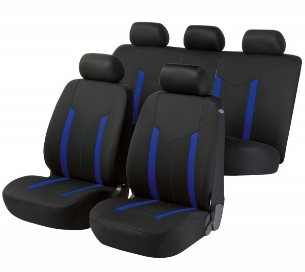 Autositzbezug Schonbezug, Komplett Set, Hyundai i30, Schwarz, Blau
