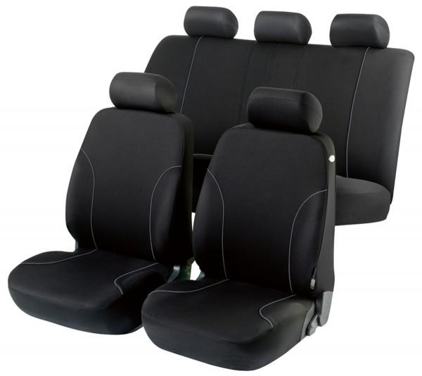 Autositzbezug Schonbezug, Komplett Set, Seat Cordoba, Schwarz