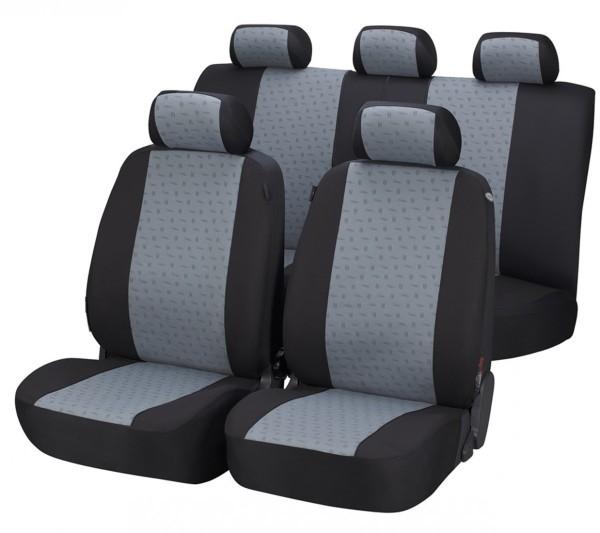 Autositzbezug Schonbezug, Komplett Set, Toyota Landcruiser, Grau
