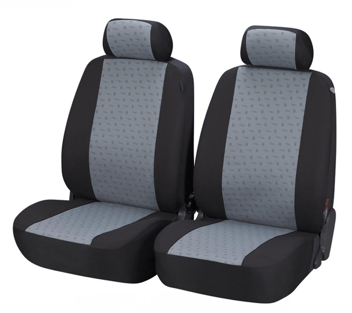 2 Grau Schwarz Sitzbezüge Polyester Schonbezüge für Audi KIA Mazda Citroen Ford