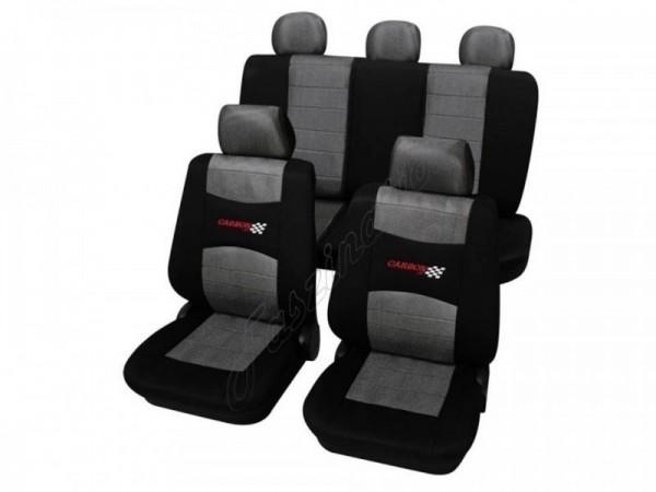 Autositzbezug Schonbezug, Komplett-Set, Peugeot 309, Grau Schwarz