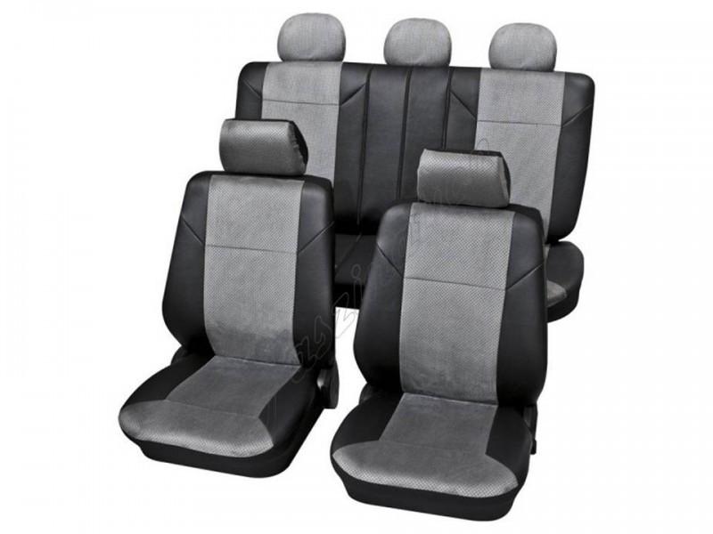 Premium Kunstleder Sitzbezüge Sitzbezug Schonbezüge für Seat Altea Schwarz Set