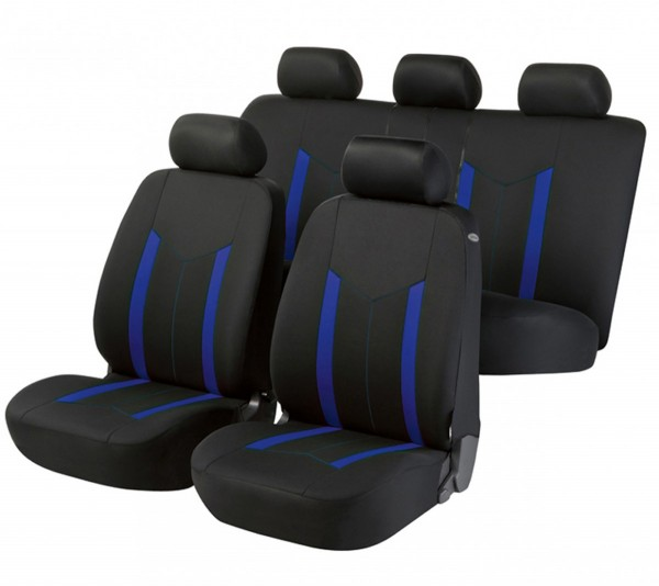 Autositzbezug Schonbezug, Komplett Set, Mini Mini Clubman, Schwarz, Blau
