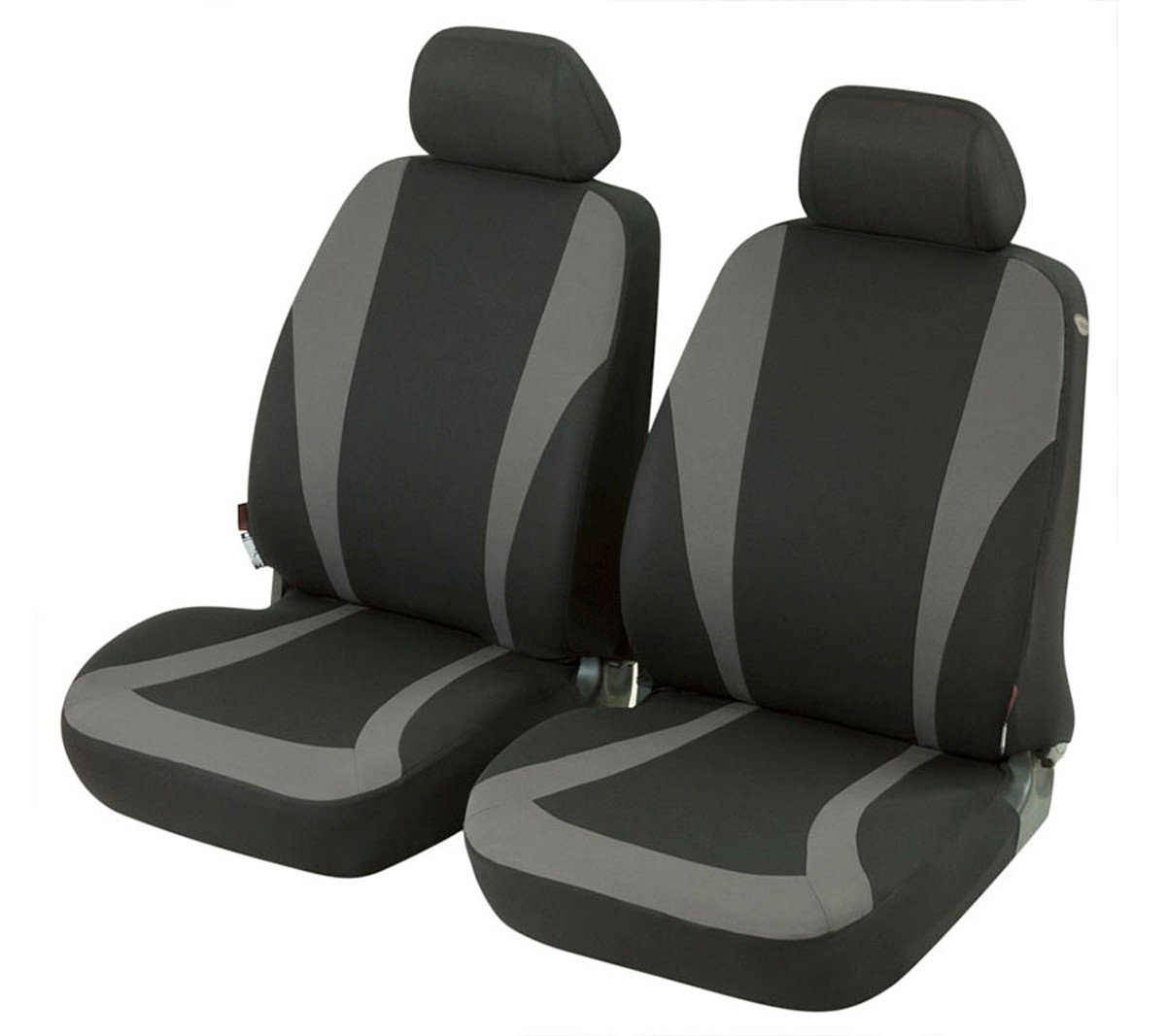 autositzbezug schonbezug vordersitzbez ge suzuki swift schwarz grau. Black Bedroom Furniture Sets. Home Design Ideas