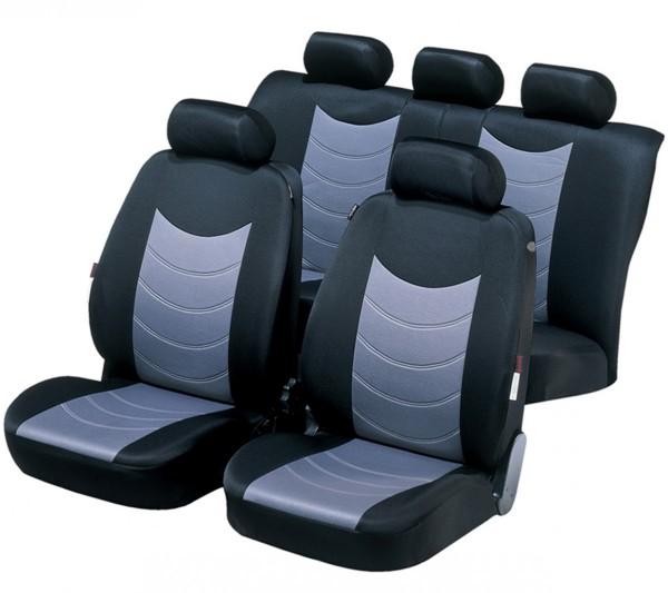 Autositzbezug Schonbezug, Komplett Set, Mini Mini Clubman, Schwarz, Grau