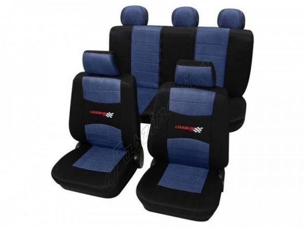 Autositzbezug Schonbezug, Komplett-Set, Alfa Romeo 75, Blau Schwarz