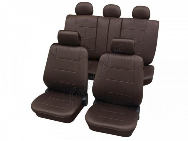 Autositzbezug Schonbezug Lederlook-Optik, Komplett-Set, Alfa Romeo 155, Braun Braunrot