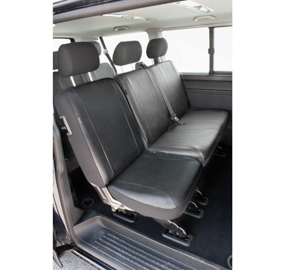 Transporter Autositzbezug, VW T5 Einzelsitz hinten, Nappa Kunstleder, ab 04/2003, anthrazit