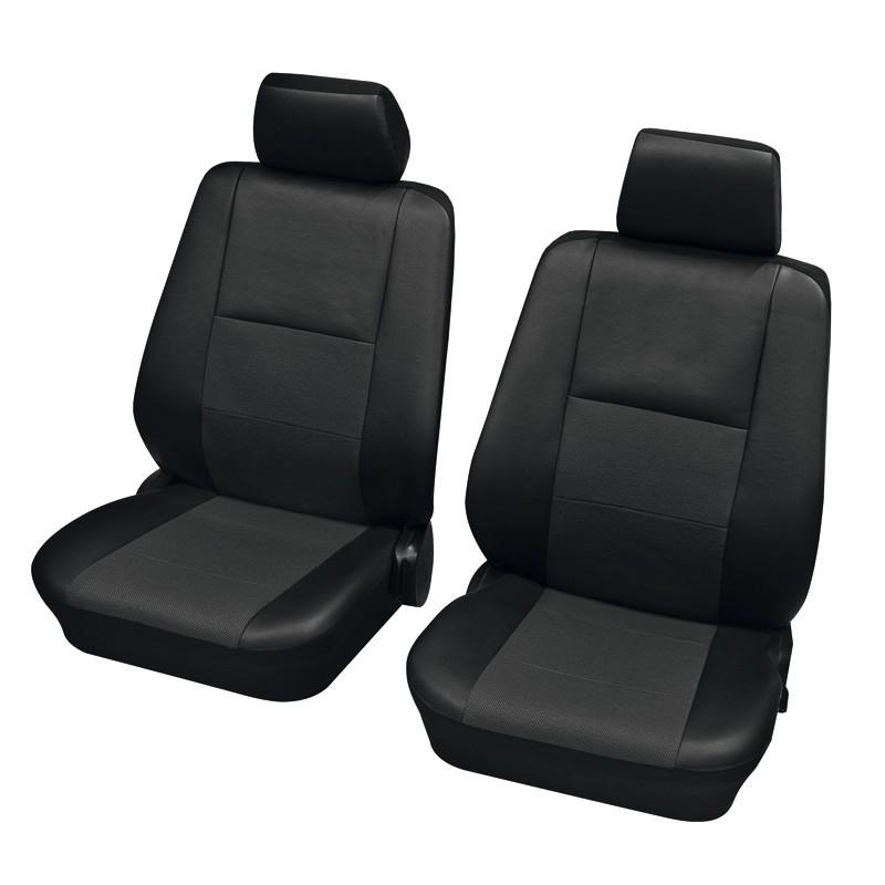 Premium Kunstleder Sitzbezüge Sitzbezug Schonbezüge für Peugeot 307 Grau Set