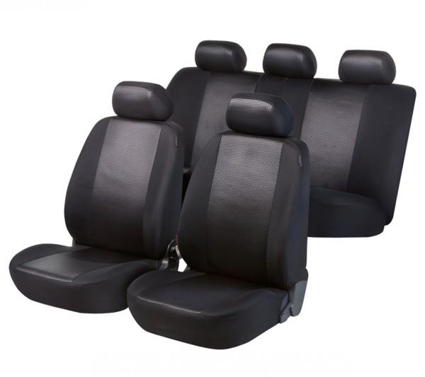 Autositzbezug Schonbezug, Komplett Set, Opel Vivaro Life, Schwarz