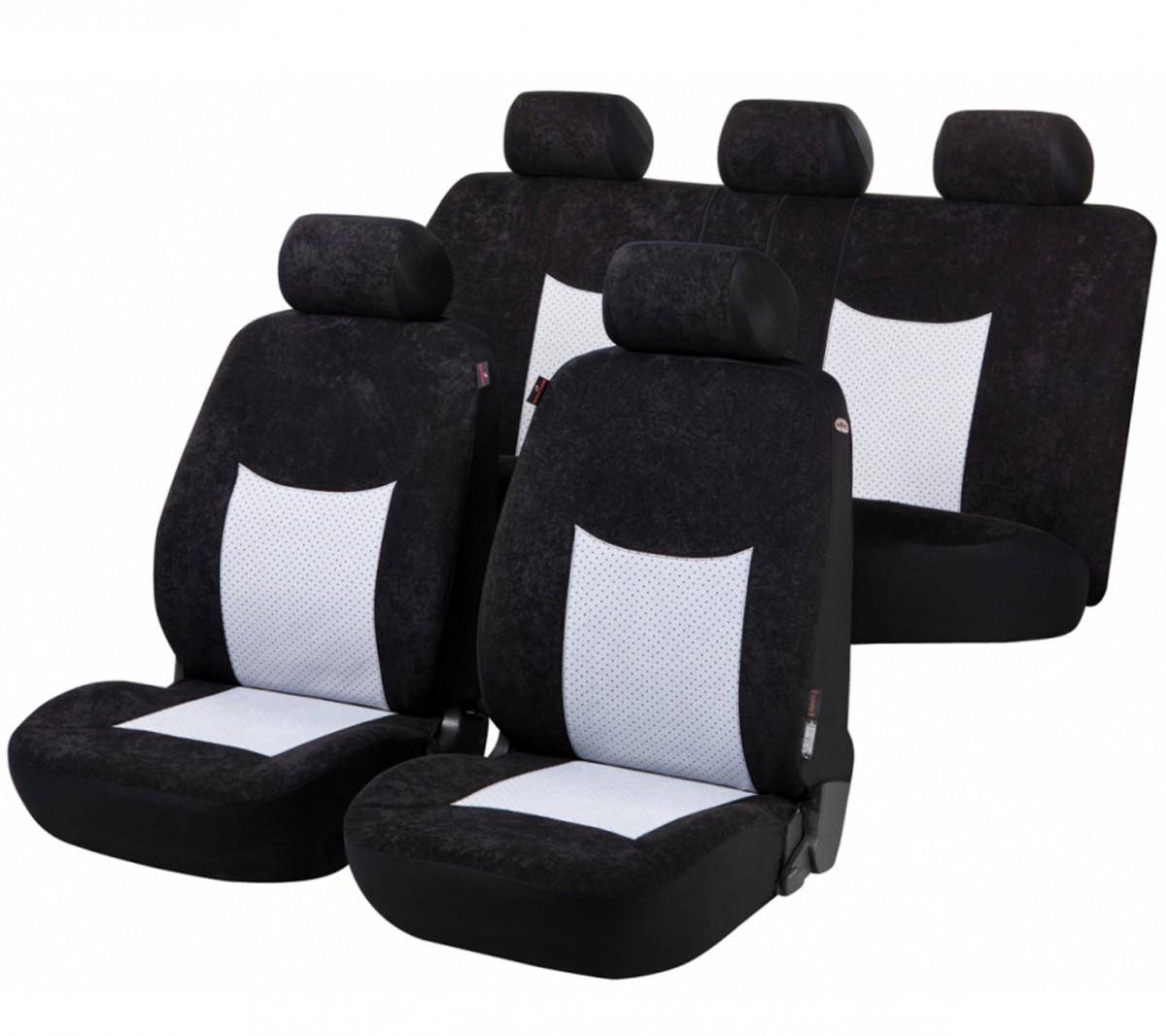 Schwarz-graue Sitzbezüge für SUBARU FORESTER Autositzbezug Komplett