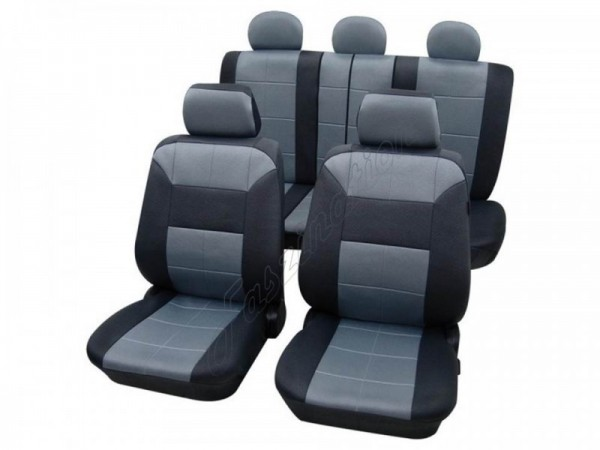 Autositzbezug Schonbezug Lederlook-Optik, Komplett-Set, Alfa Romeo 145, Blau Hellblau