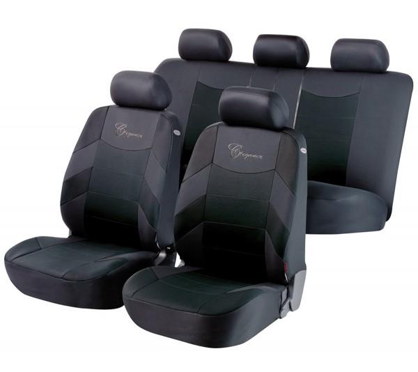 autositzbezug schonbezug komplett set ford ka schwarz grau. Black Bedroom Furniture Sets. Home Design Ideas