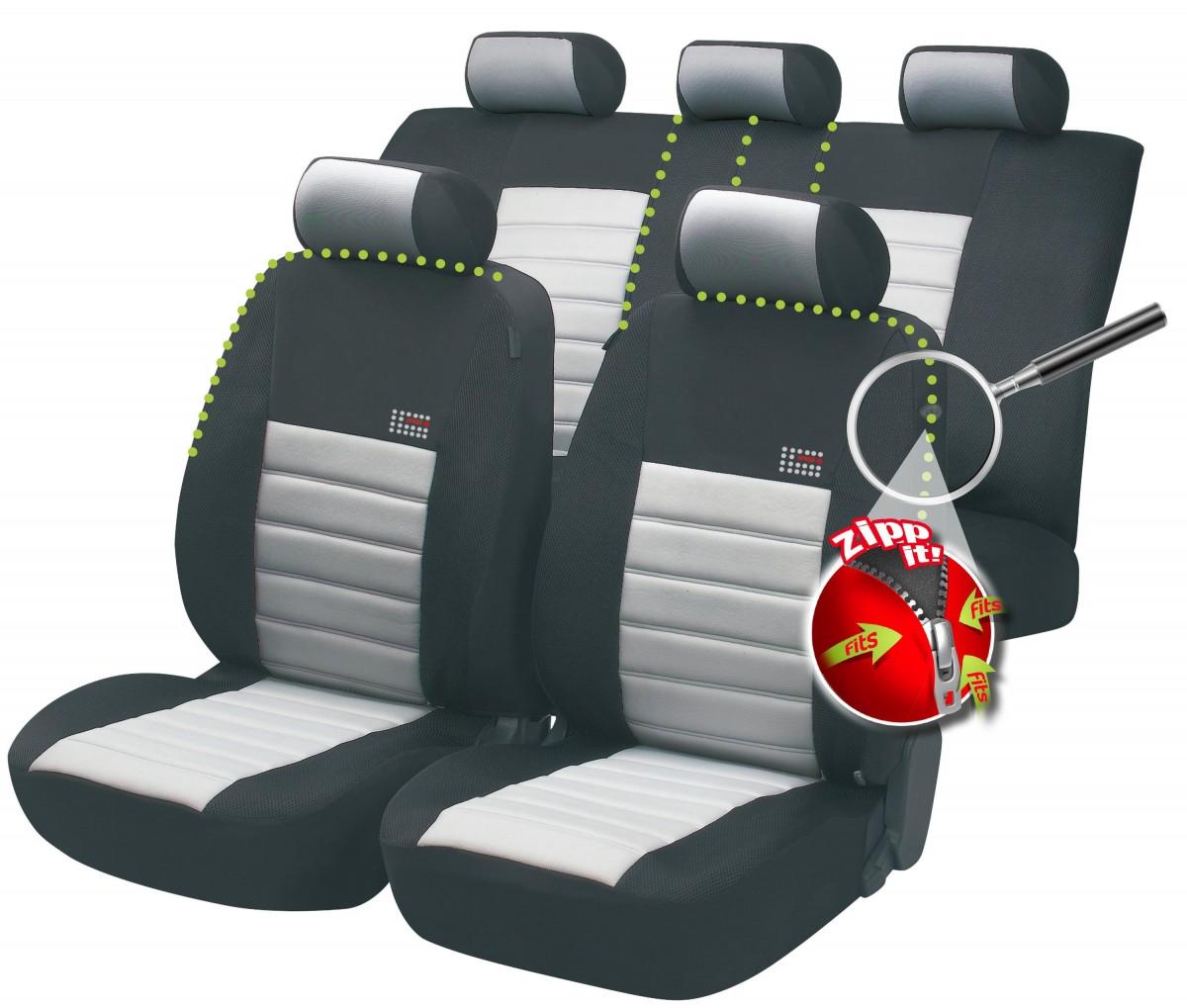 Sitzbezüge rot hinten KOS OPEL COMBO