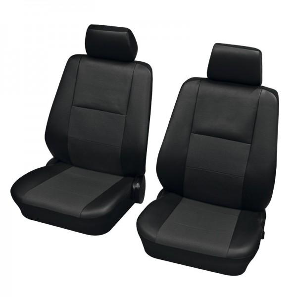 Autositzbezug Schonbezug, Vordersitzgarnitur, Alfa Romeo 155, Schwarz Anthrazit