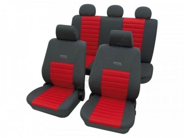 Autositzbezug Schonbezug, Komplett-Set, Alfa Romeo 75, Rot Blau Anthrazit