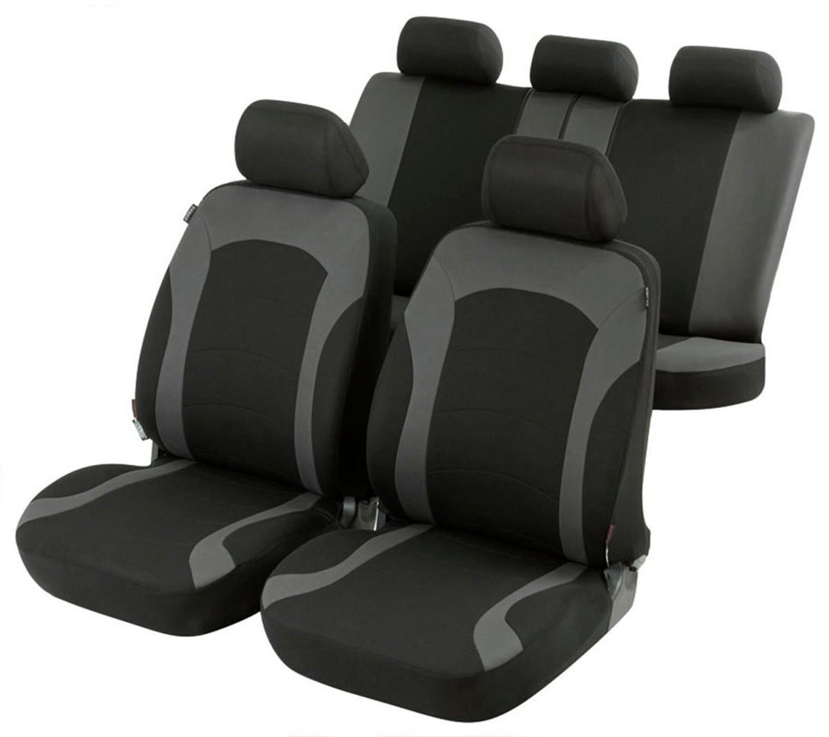 Schwarze Sitzbezüge für BMW SERIE 5 Autositzbezug Komplett
