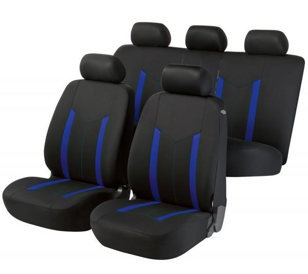 Autositzbezug Schonbezug, Komplett Set, Mitsubishi Lancer, Schwarz, Blau
