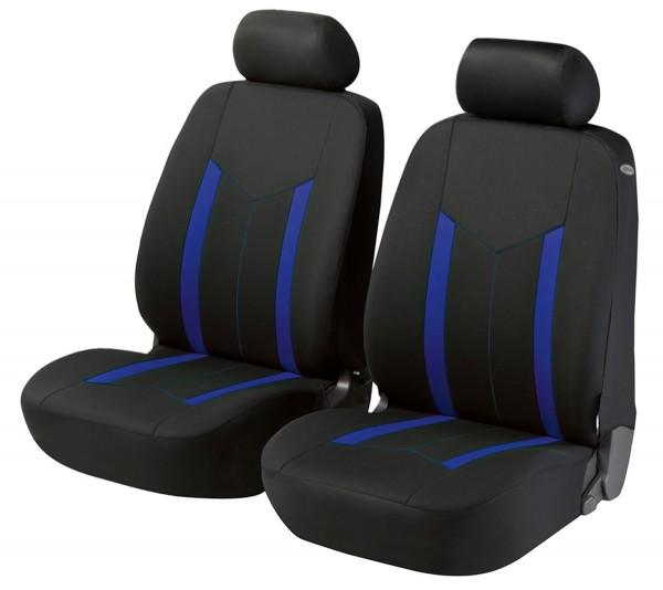 Autositzbezug Schonbezug, Vordersitzbezüge, Mini Mini Clubman, Schwarz, Blau