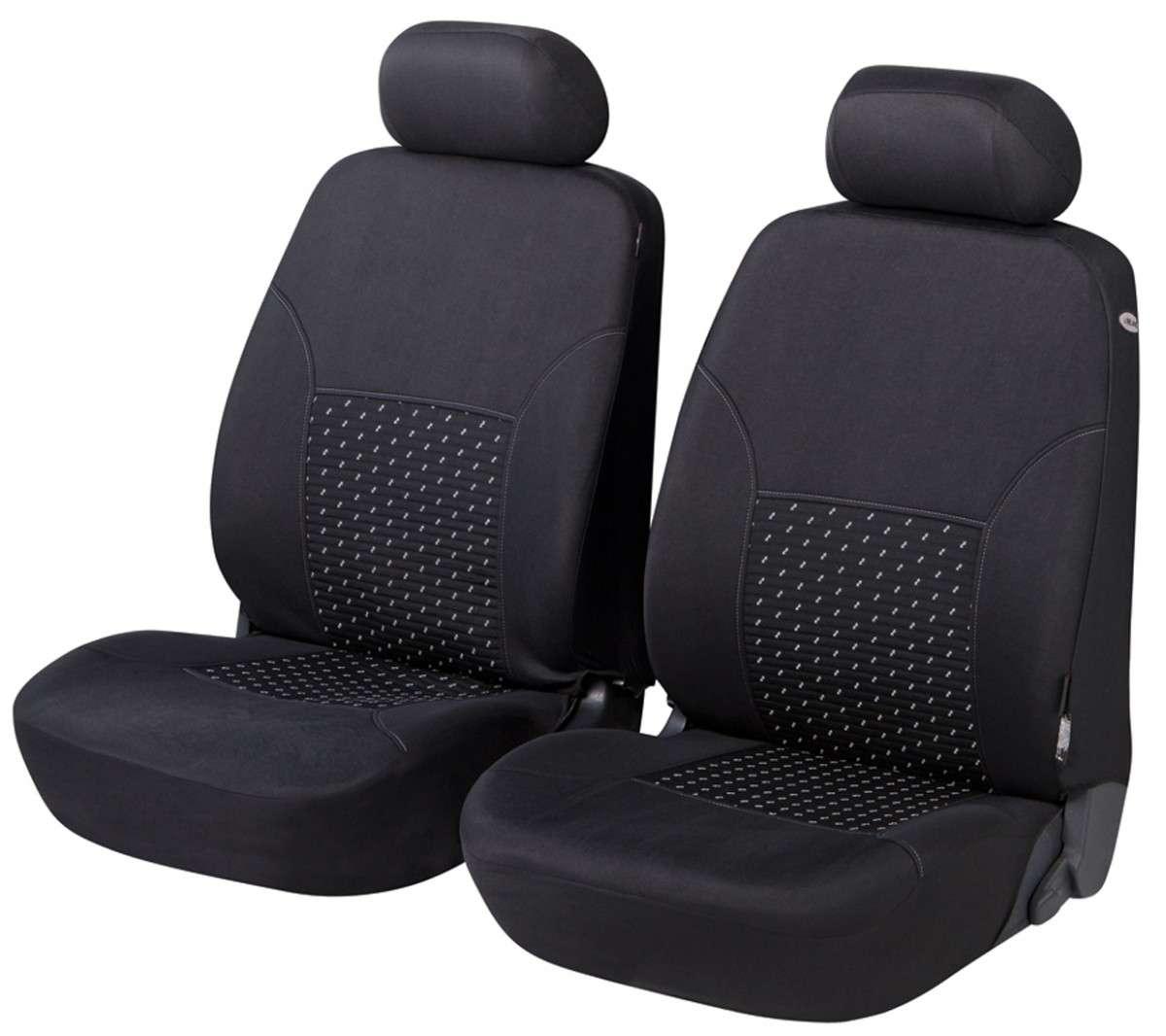 Schwarz-graue Dreiecke Sitzbezüge für DAIHATSU CUORE Autositzbezug VORNE