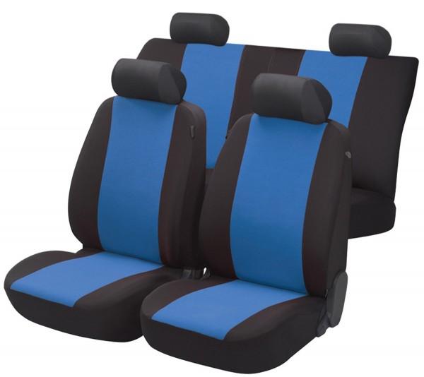 Autositzbezug Schonbezug, Komplett Set, Toyota Landcruiser, Schwarz, Blau
