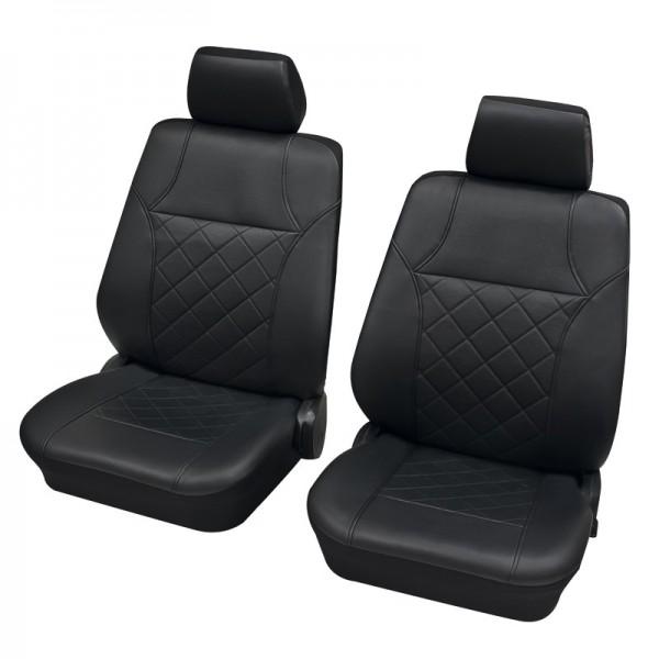 Autositzbezug Schonbezug, Vordersitzgarnitur, Peugeot 309, Anthrazit Schwarz