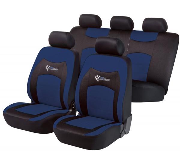 Autositzbezug Schonbezug, Komplett Set, Peugeot 308, Schwarz, Blau