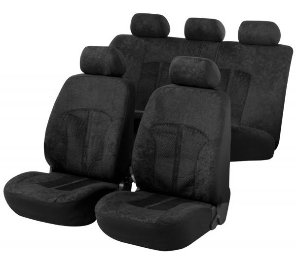 Autositzbezug Schonbezug, Komplett Set, Peugeot 308, Schwarz