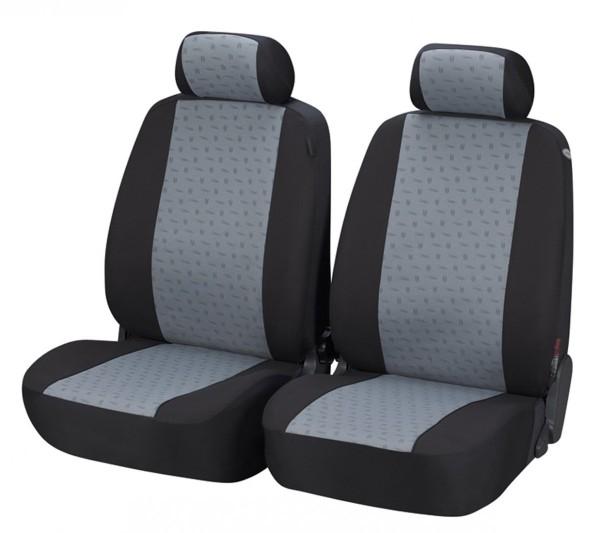 Autositzbezug Schonbezug, Vordersitzbezüge, Toyota Landcruiser, Schwarz, Grau