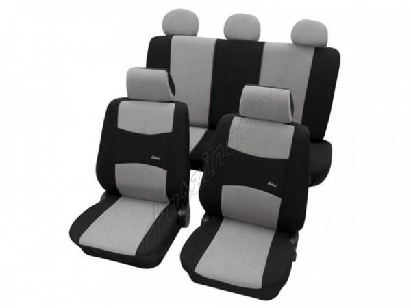 Autositzbezug Schonbezug, Komplett-Set, Peugeot 207, Grau Schwarz