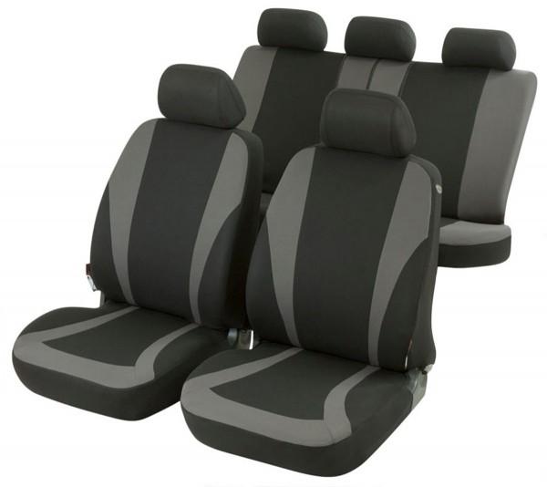 Autositzbezug Schonbezug, Komplett Set, Toyota Yaris, Schwarz, Grau