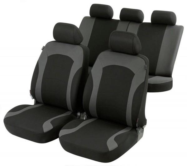 Schwarz-graue Sitzbezüge für FIAT BRAVO Autositzbezug Komplett