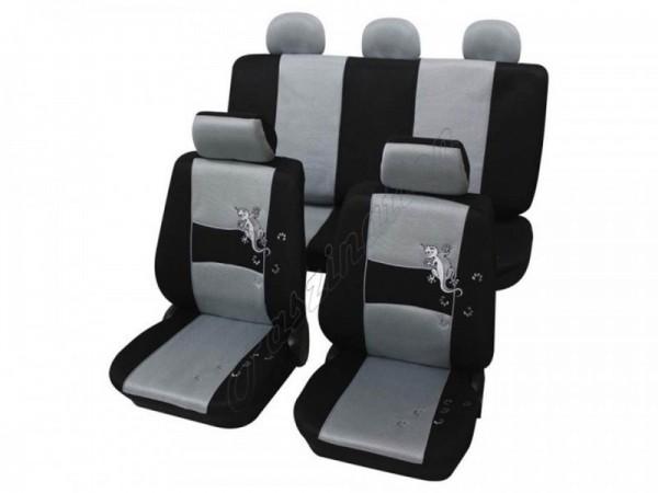 Autositzbezug Schonbezug, Komplett-Set, Alfa Romeo 75, Silber Grau Schwarz
