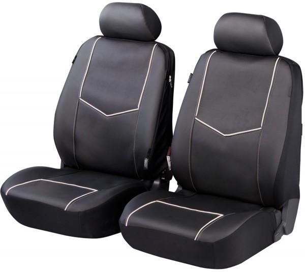Autositzbezug Schonbezug, Kunstleder, Vordersitzbezüge, Mazda nur Vordersitzbezüge, Schwarz
