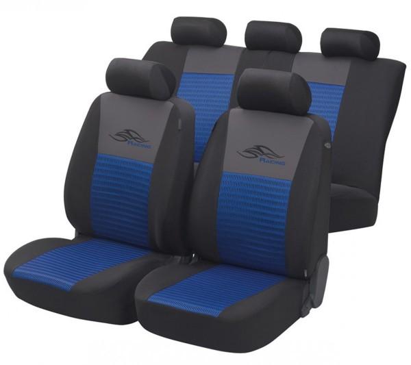 Autositzbezug Schonbezug, Komplett Set, Peugeot 308, Blau, Schwarz