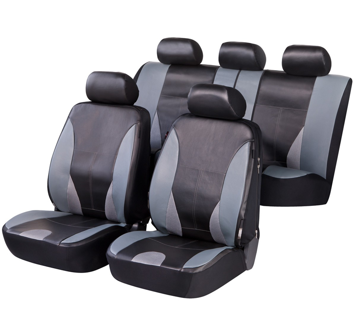 Schwarz-graue Sitzbezüge für MITSUBISHI CARISMA Autositzbezug Komplett