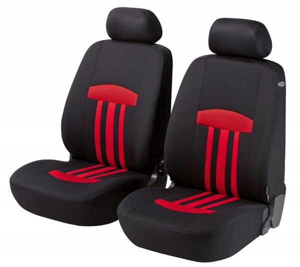 Autositzbezug Schonbezug, Vordersitzbezüge, Mini Mini Clubman, Schwarz, Rot